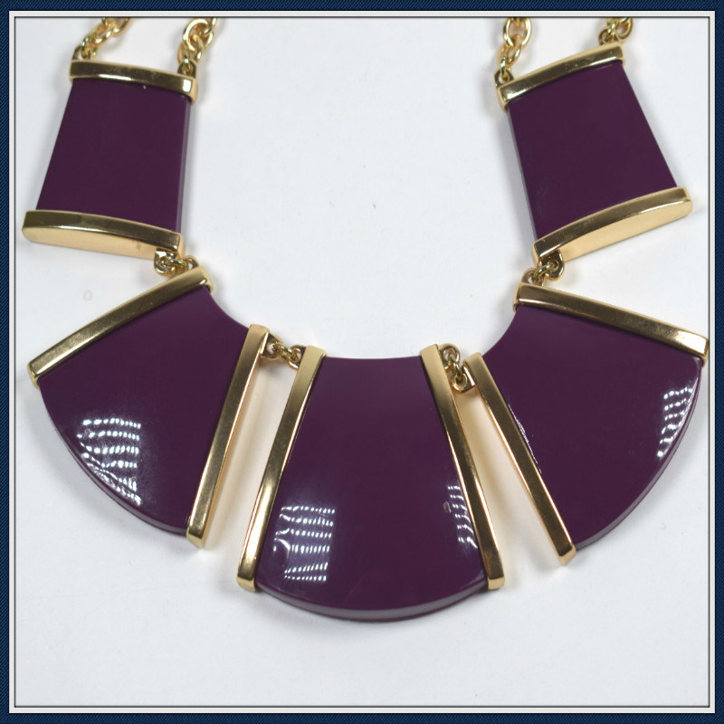 New Item Square Resin Pendant Necklace Fashion Jewellery