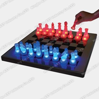 LED Chess, LED Glow Chess Set, Chess Set, Glass Chess Set