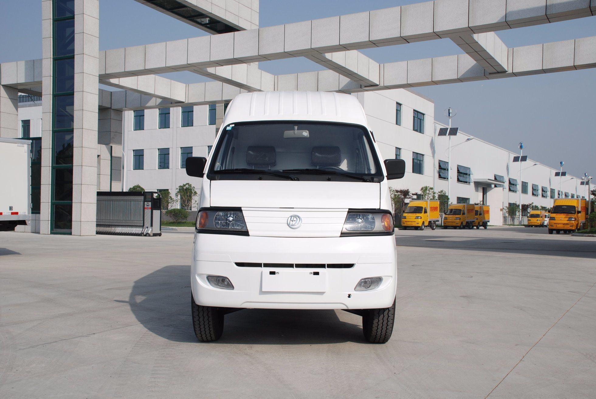 Electric Cargo Van with Single Cab