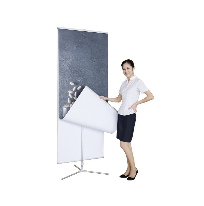 Trifold--Banner Stand Patented Rotating Foldable Base