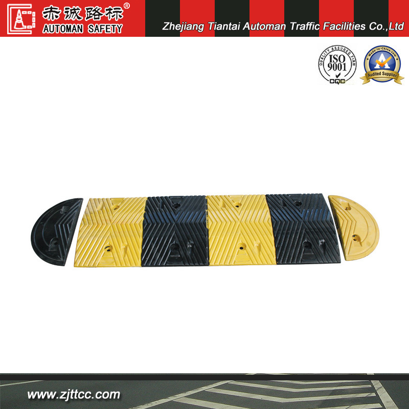 5cm Thick Industrial Rubber Road Safety Speed Hump (CC-B01)