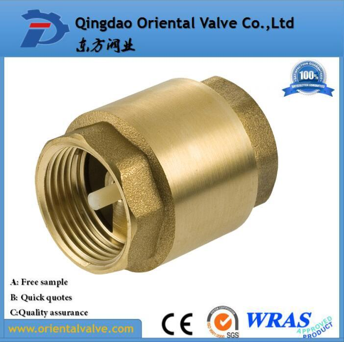 Professional Making Ss Spring Europe Standard Brass Check Valve with Barss Core
