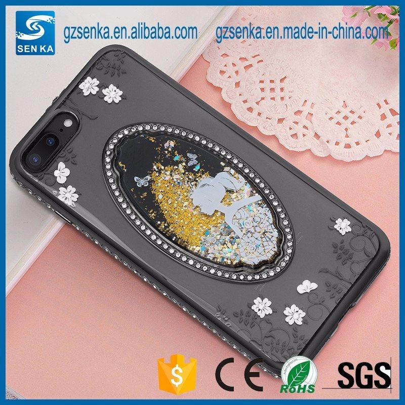 Crystal Diamond 3D Liquid Quicksand TPU Case for iPhone 7 Plus