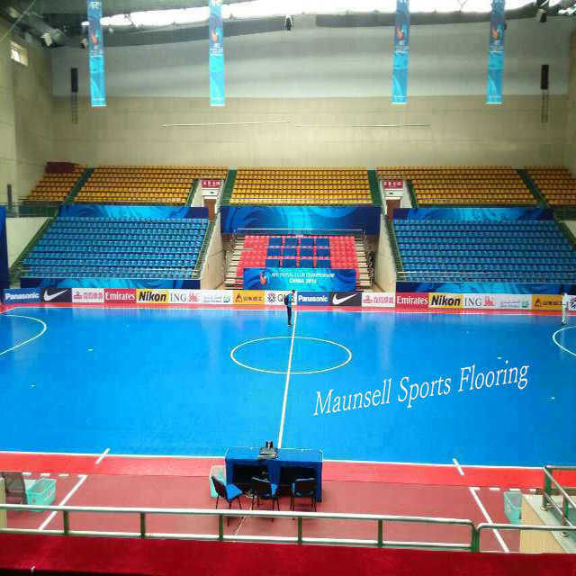Indoor PVC and PP Interlock Sports Floor for Soccer / Futsal Court