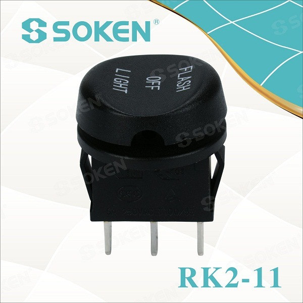 RoHS UL on off on Micro Rocker Switch 6A 250V