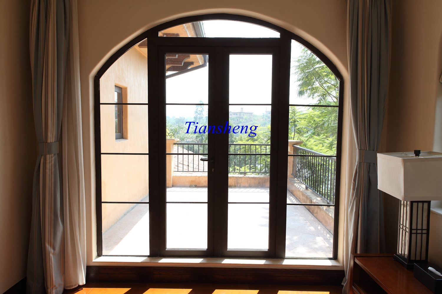 High Quality Aluminum Casement Door with Double Glazing