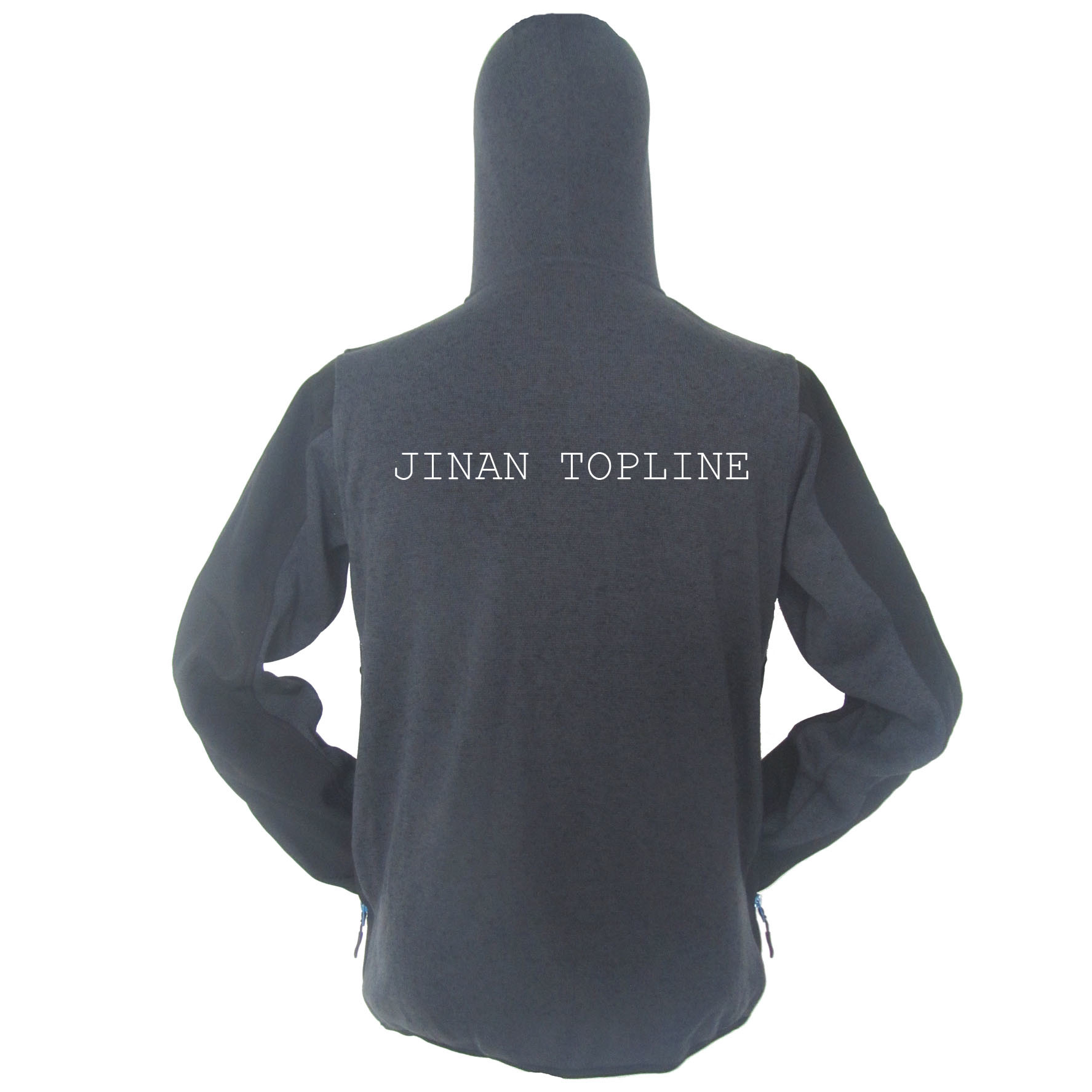 Cationic Dyed Polar Fleece Micro Fleece Hoody Stitching Color Wind-Proof Casual Jacket