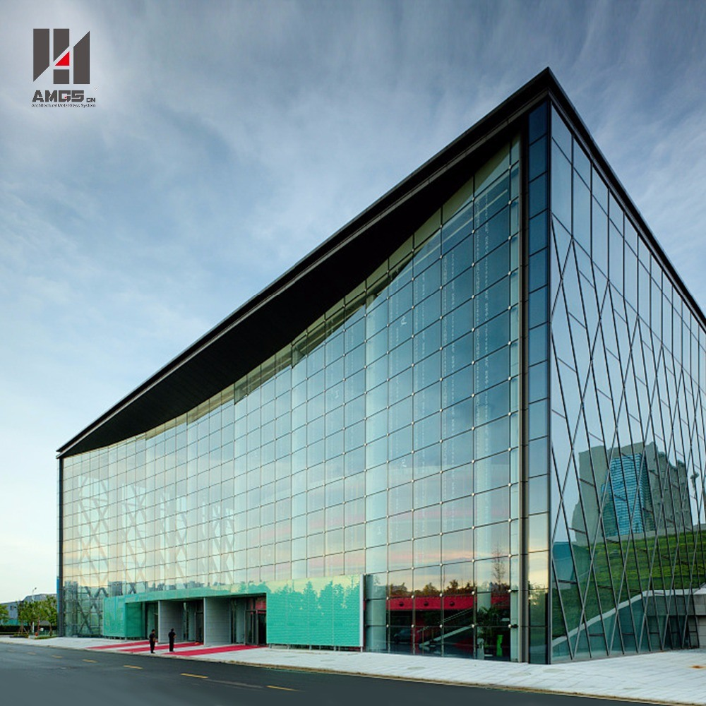 Modern Exterior Facade High Quality Point Support Glass Curtain Wall Price