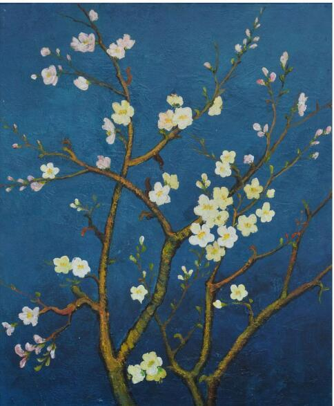 Wall Art Paintings Blue Flower Painting on Canvas (LH-P17043)