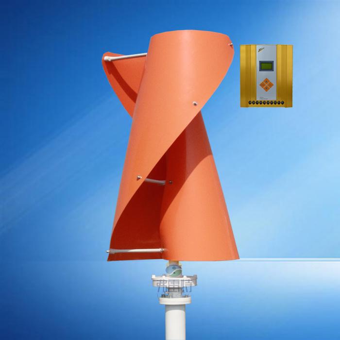 12V 24V Auto MPPT Hybrid Controller with 300W Vertical Wind Generatlr