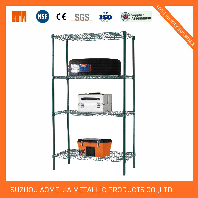 6 Tier Chrome Wire Shelving with 3′′ Wheels