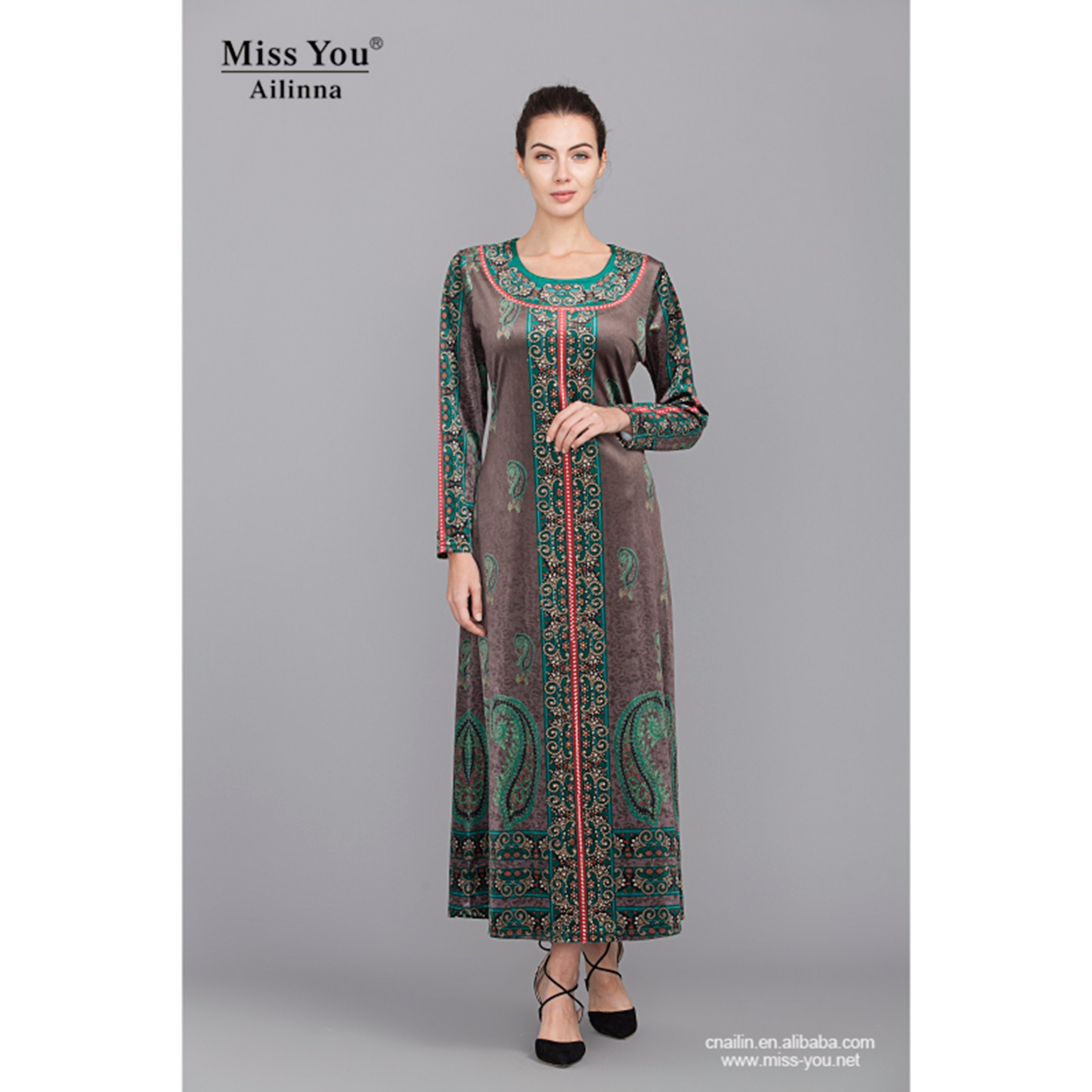 Miss You Ailinna 305081 Fashion Pakistan Dress for Muslim