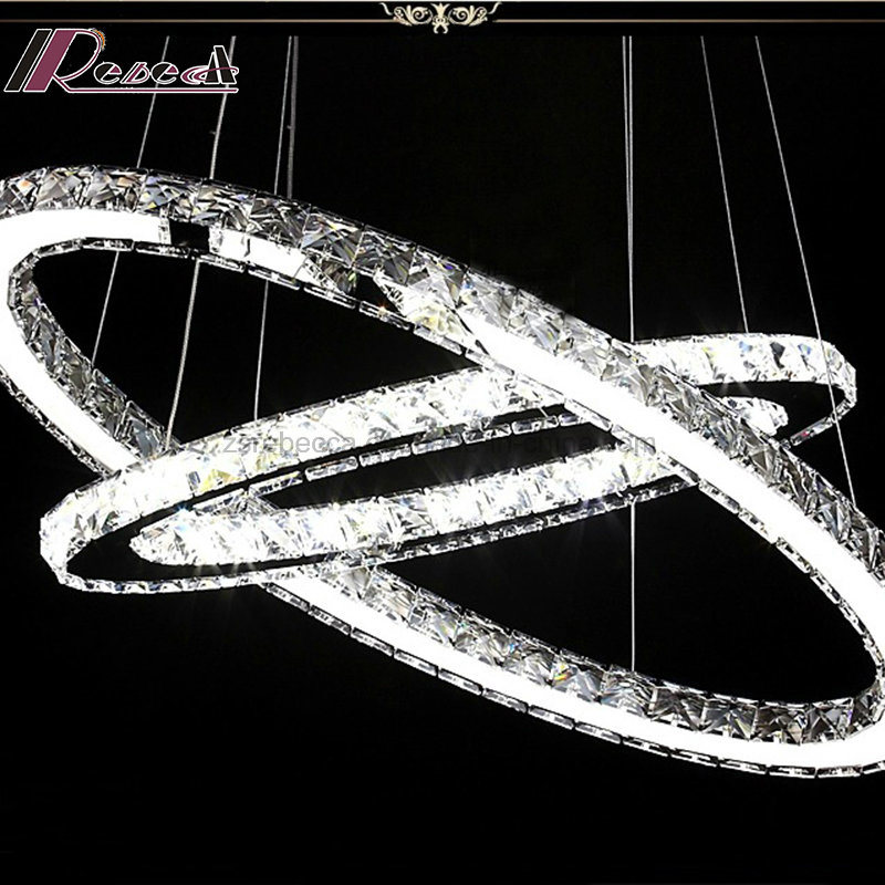 Modern Two Round Luxury Crystal Chandelier Pendant Light for Hotel