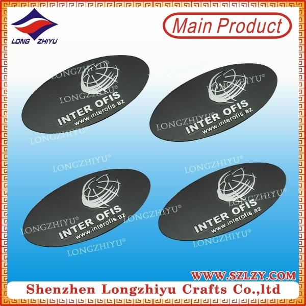 Custom Metal Nameplate Silver Plated Nameplates