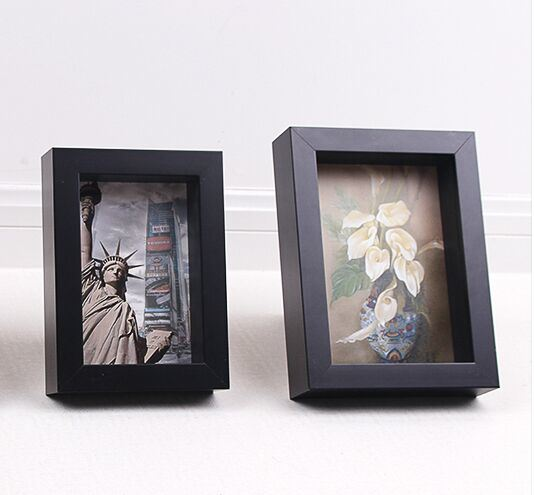 3D Wooden Shadow Box Frame Combind Decorative Photo Picture Frame