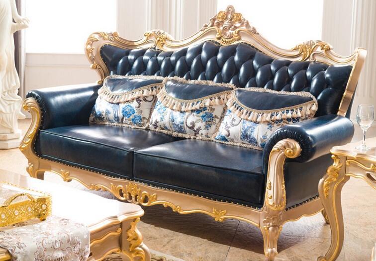 Modern Chesterfield Sofa Living Room Sofa with Genuine Leather Sofa