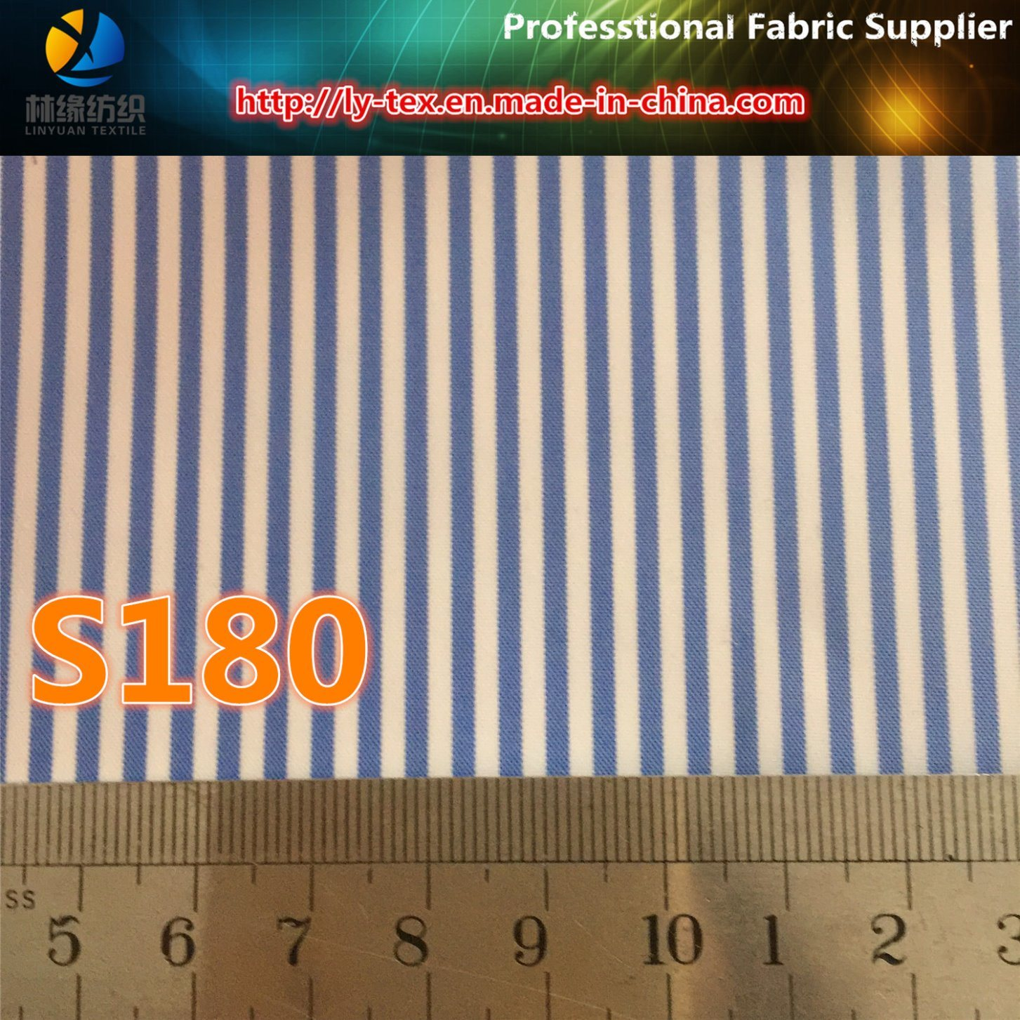 Upscale Men Suit Lining in Polyester Woven Stripe Fabric (S180.181)