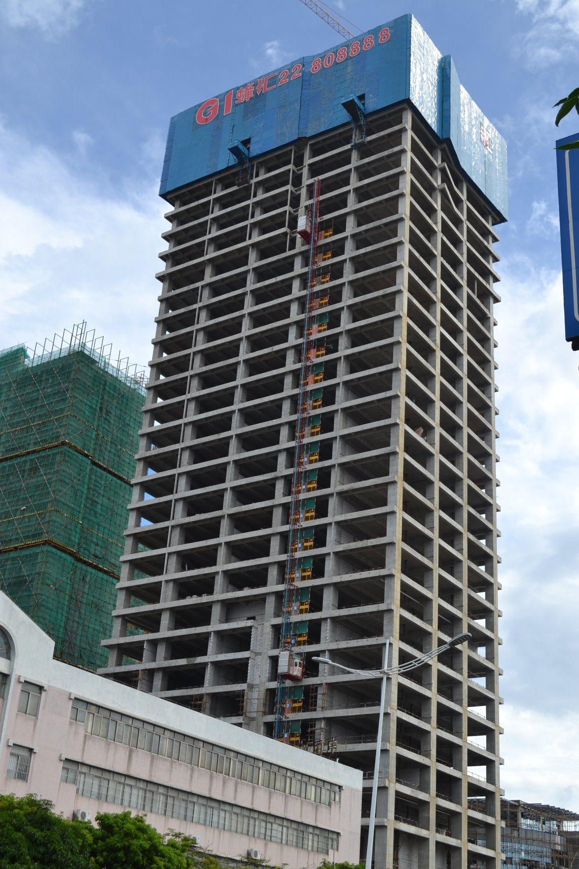 6t Qtz80 (6012) Hydraulic Construction Equipment Tower Crane