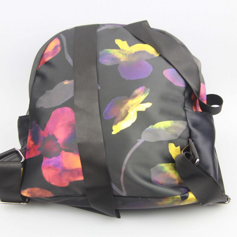 Girls Fashion Flowr Printed Backpack Nylon Backpack