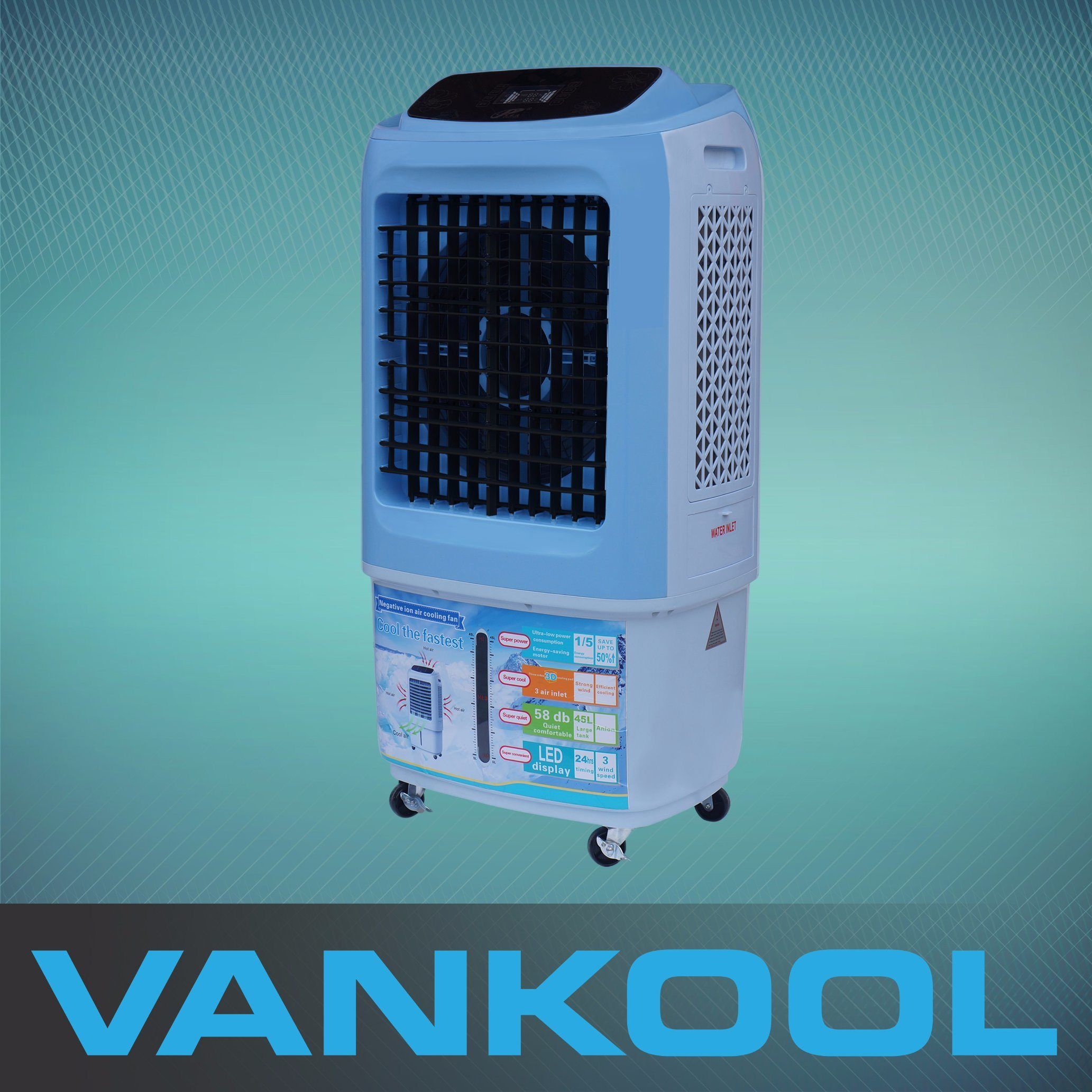 AC/DC Home Appliance Evaporative Air Cooler Portable Air Conditioner