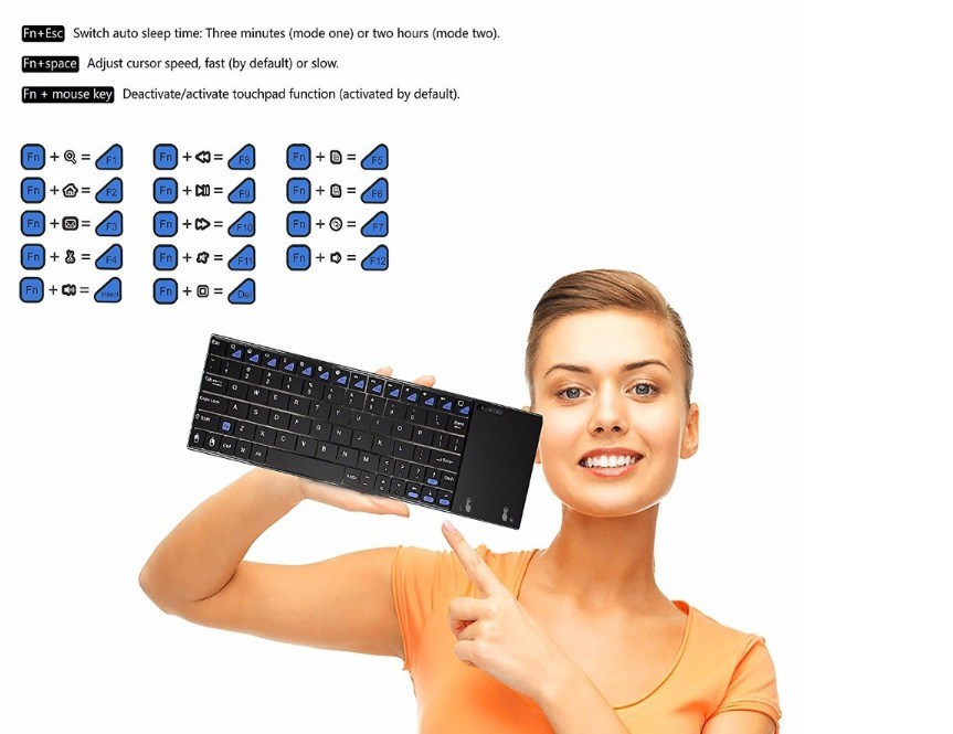 Mini 2.4GHz Wireless Keyboard Air Mouse Remote Controll Topleo Minix Neo K2
