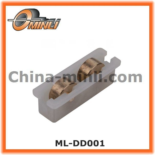Plastic Bracket Double Gold Pulley for Window and Door (ML-DD001)
