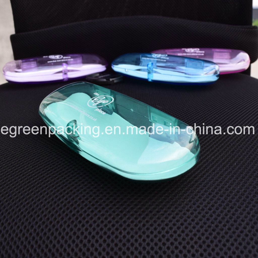 Most Popular Multi Color Transparent Magnetic Plastic Eyeglasses Case (PCZ7)