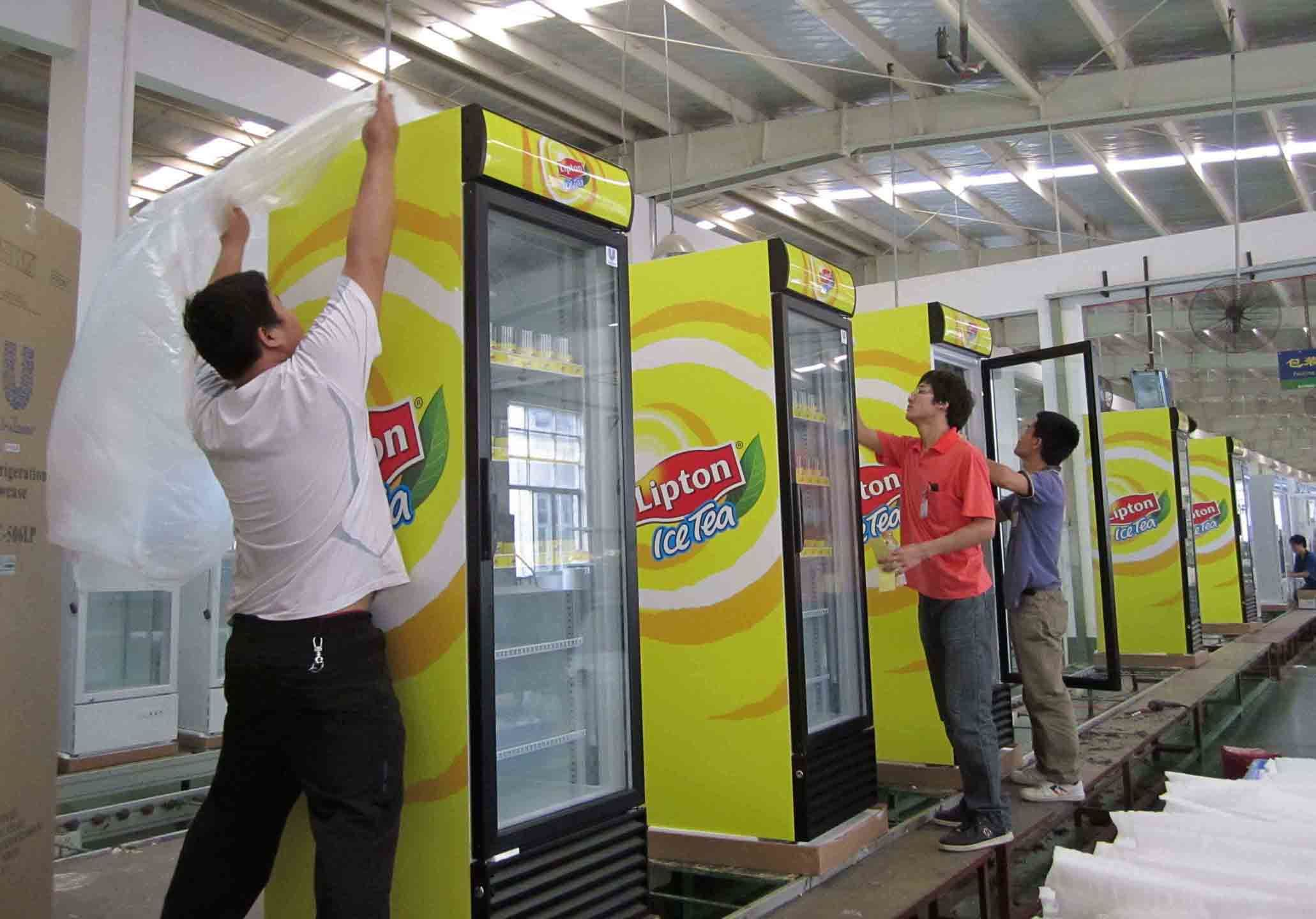 Swing Door Upright Beverage Cooler with Ventilation System, Ce. CB. ETL. Meps Approved