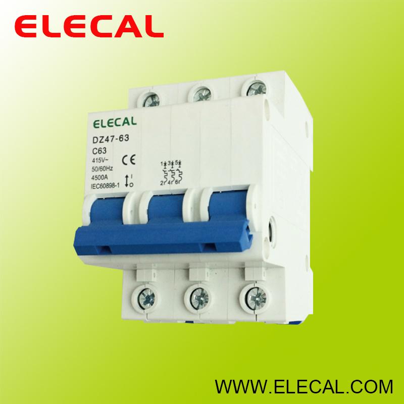 Mini Circuit Breaker (DZ47-63 3P)