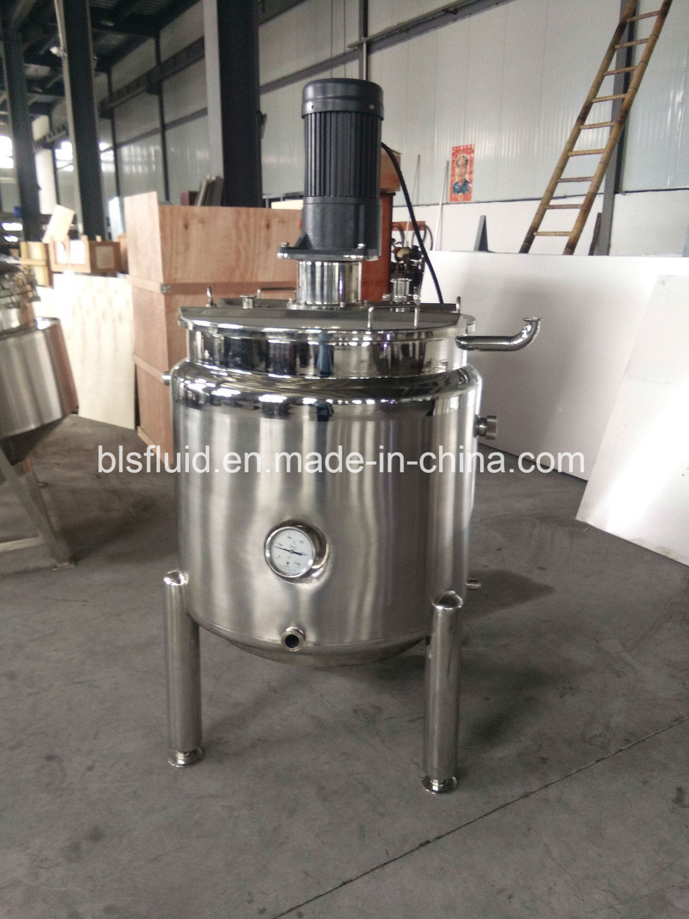Industrial Stainless Steel 200L LPG Double Jacket Mixer Milk Boiler