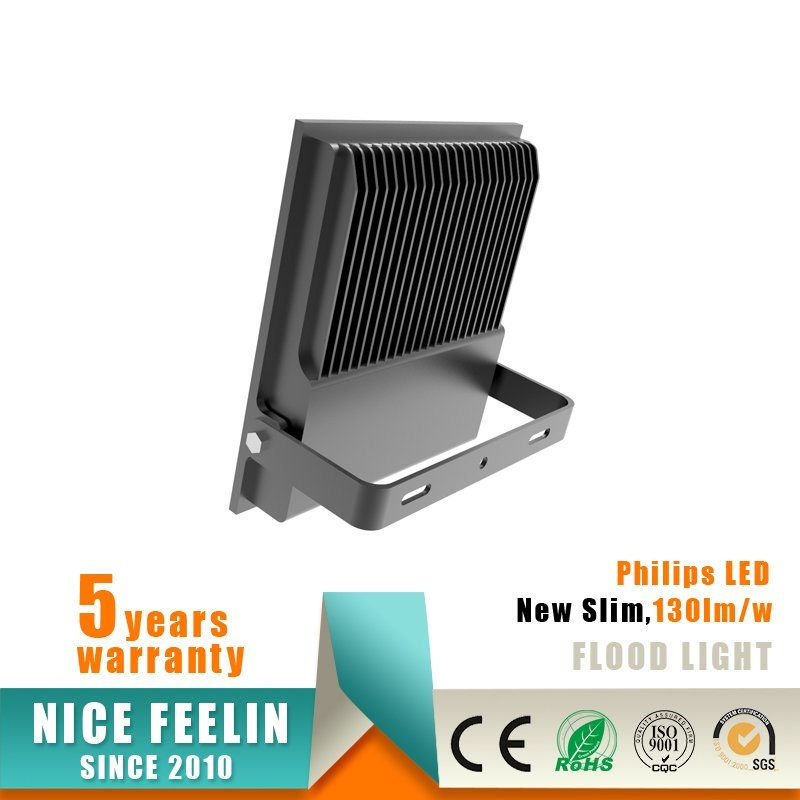 130lm/W Ultra Slim 100W LED Floodlight with Philips Driver
