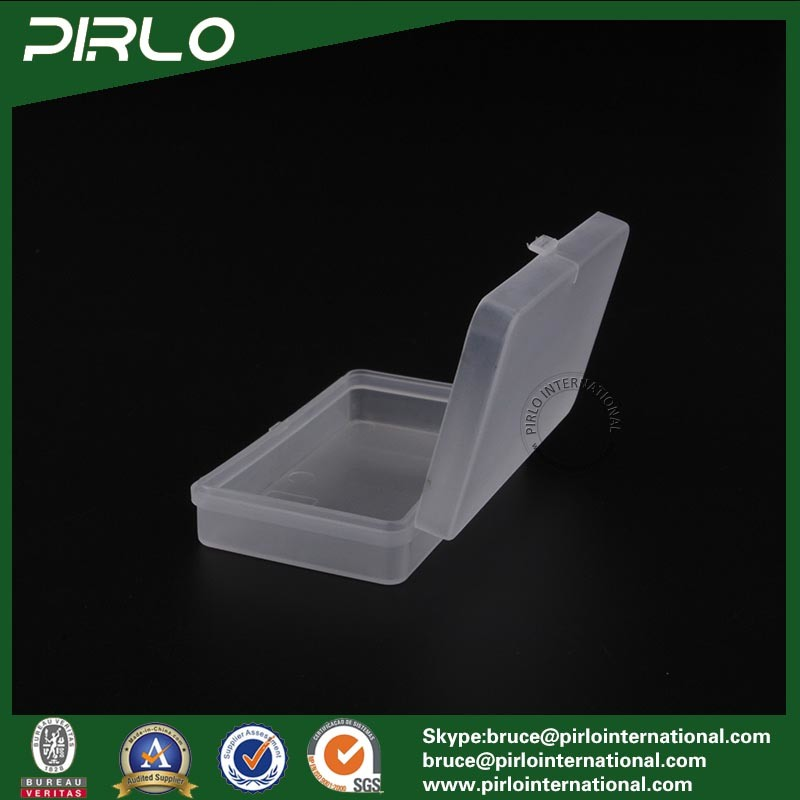 Rectangular Shaped PP Plastic Box with Hing Lid Translucent Color Empty Plastic Storage Jar Multifunctional Small Box
