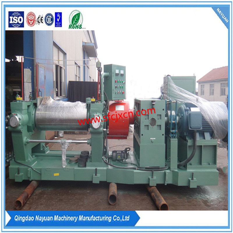 Motor Inside Rubber Open Mixing Mill with Stock Blender (XK-400)