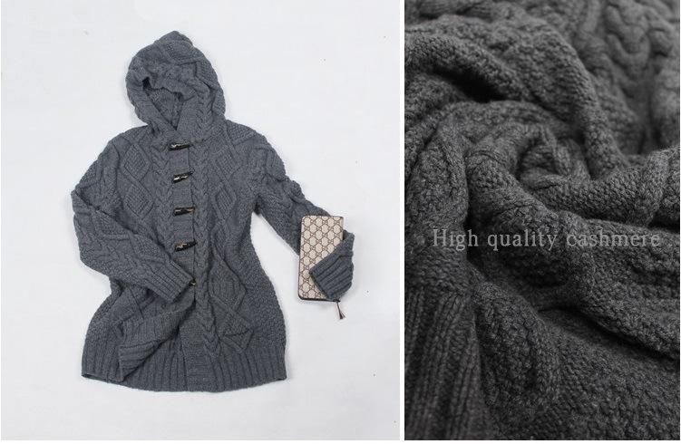 Hand Knit Sweater Ladies Cardigan Jacket Coat Sweater Dress Apparel