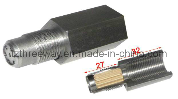Metallic Catalyst Converter Weld with Oxygen Sensor Nut and Plug