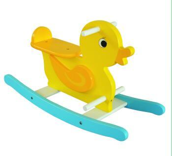 Hot Sale Wooden Baby Chair Duck Rocker for Kids and Children