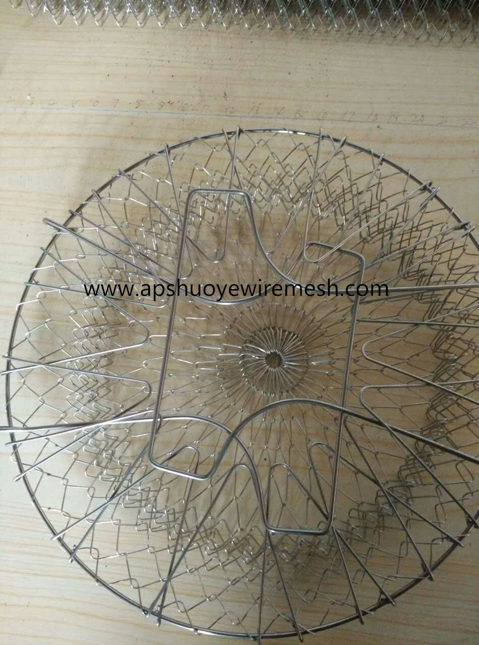 Metal Wire Mesh Fry Oil Basket