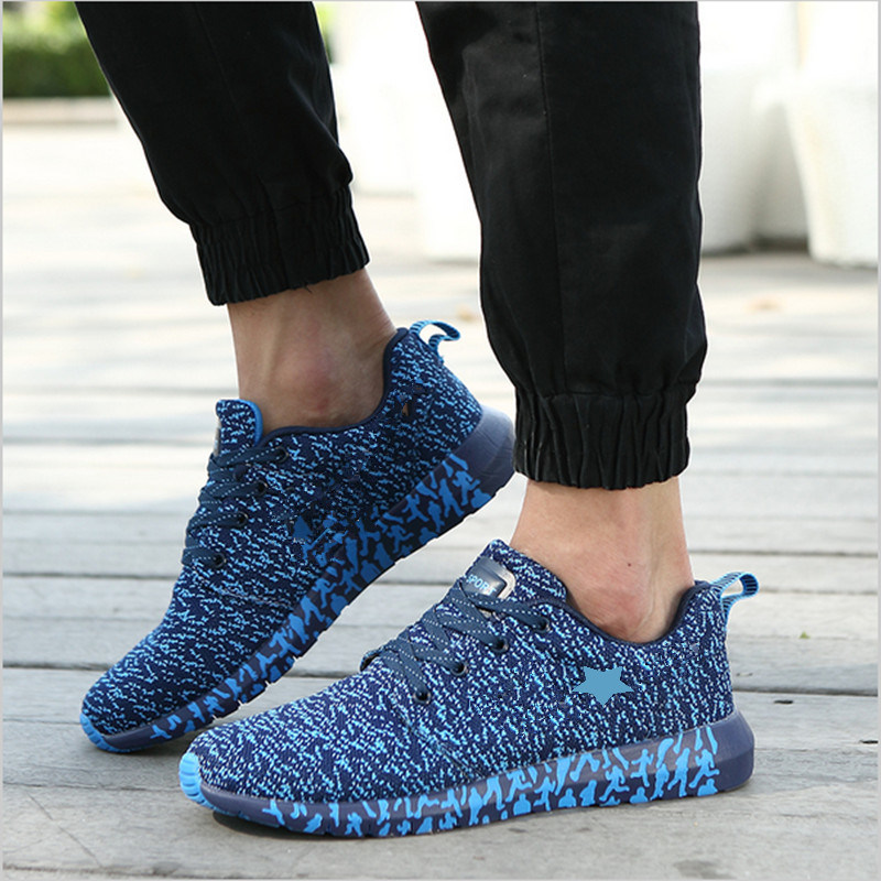 2017 New Running Shoes Light Weight Breathable Flyknit Sports Sneakers Zapato