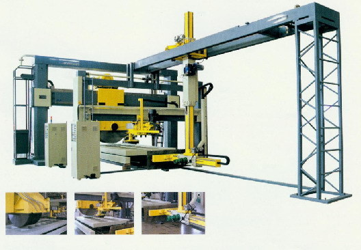 Gantry 30-Disc Stone Block Sawing and Cutting Machine