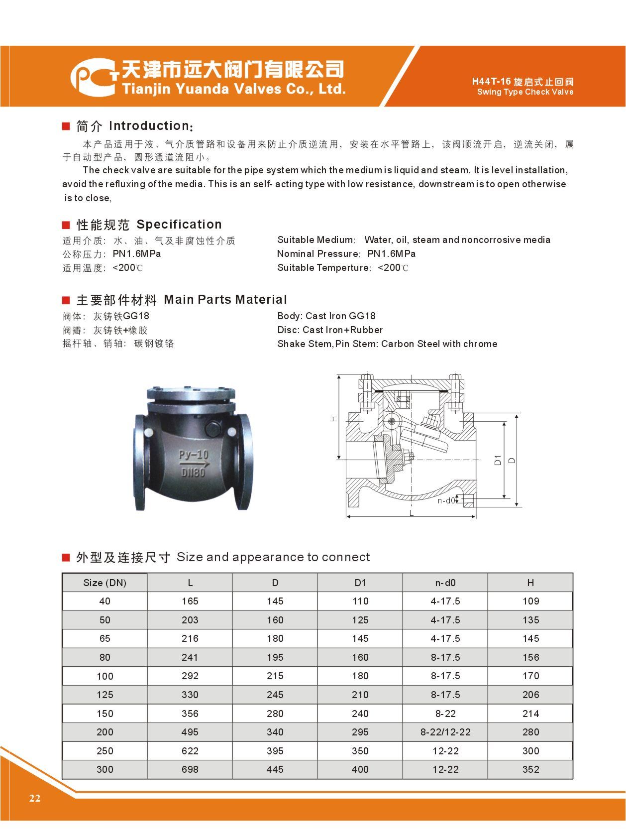 Industrial Check Valves Swing Type Wafer Check Valve ...
