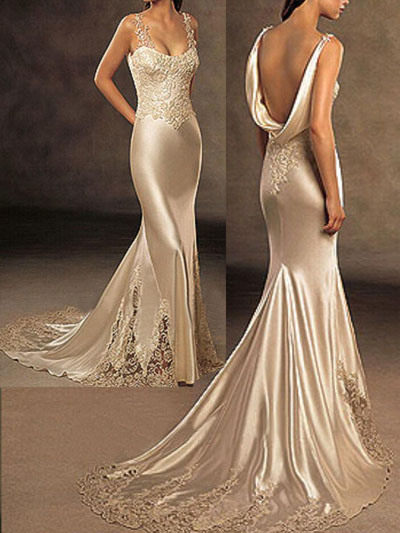 China silk wedding dresses evening gowns china prom for How to dress for an evening wedding
