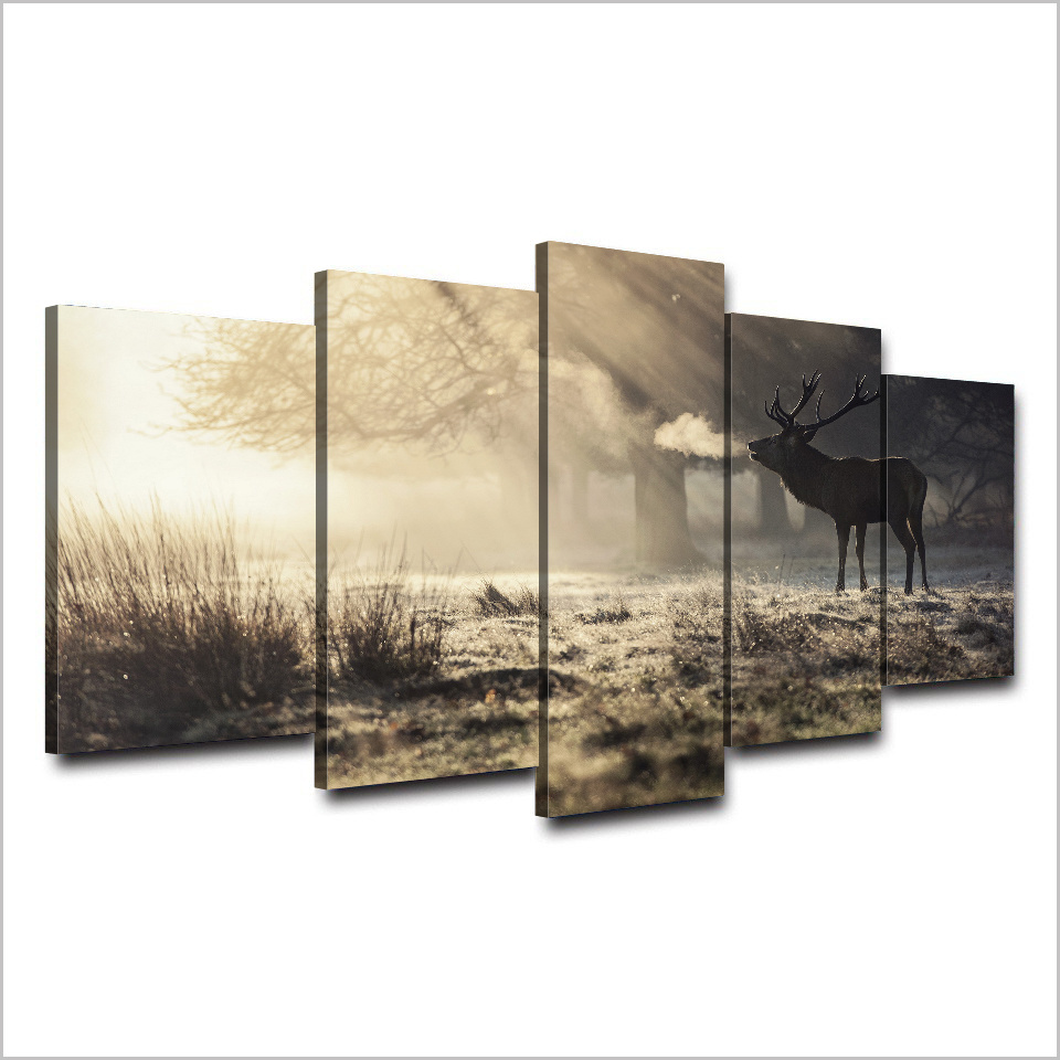 HD Printed Winter Deer Painting on Canvas Room Decoration Print Poster Picture Canvas Mc-054