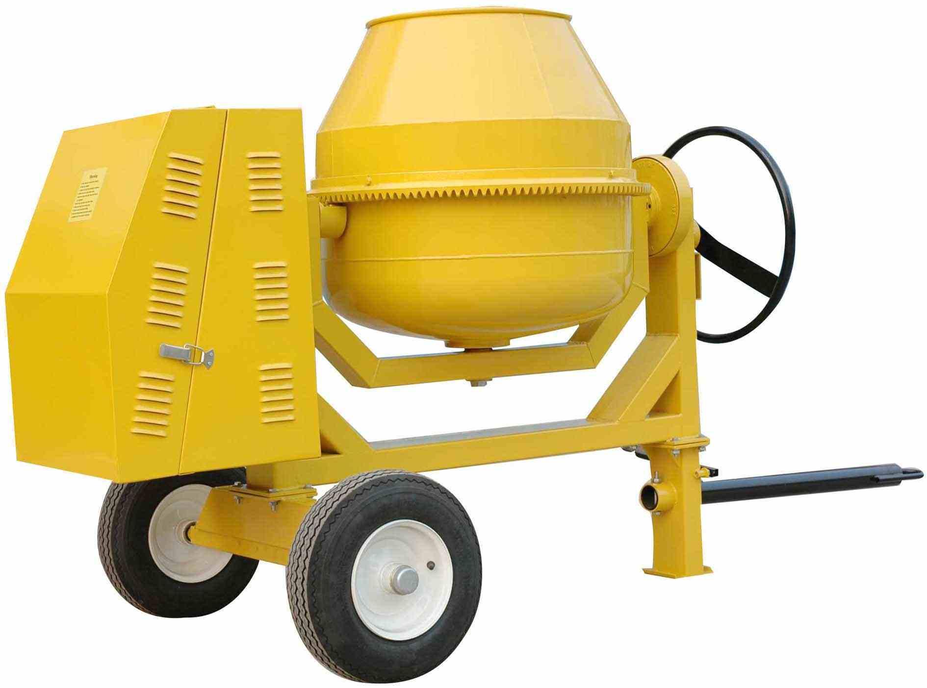 how to break cement mixer