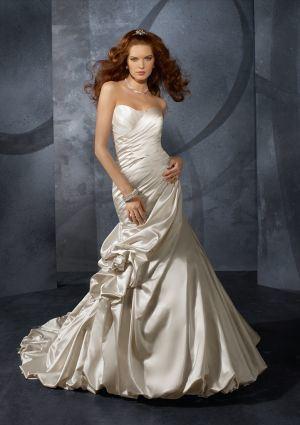 Duchessa blu Satin di stile 4701 dei vestiti da cerimonia nuziale