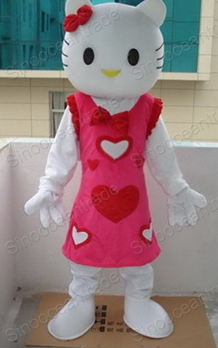 Hello Kitty Cat Mascot Costume