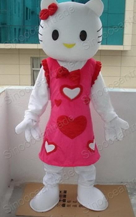 Hello Kitty Cat Mascot Costume