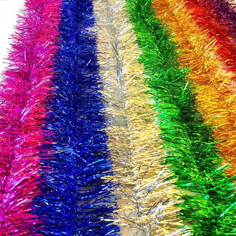 Tinsel Garland for Christmas Party and Christmas Tree Decoration