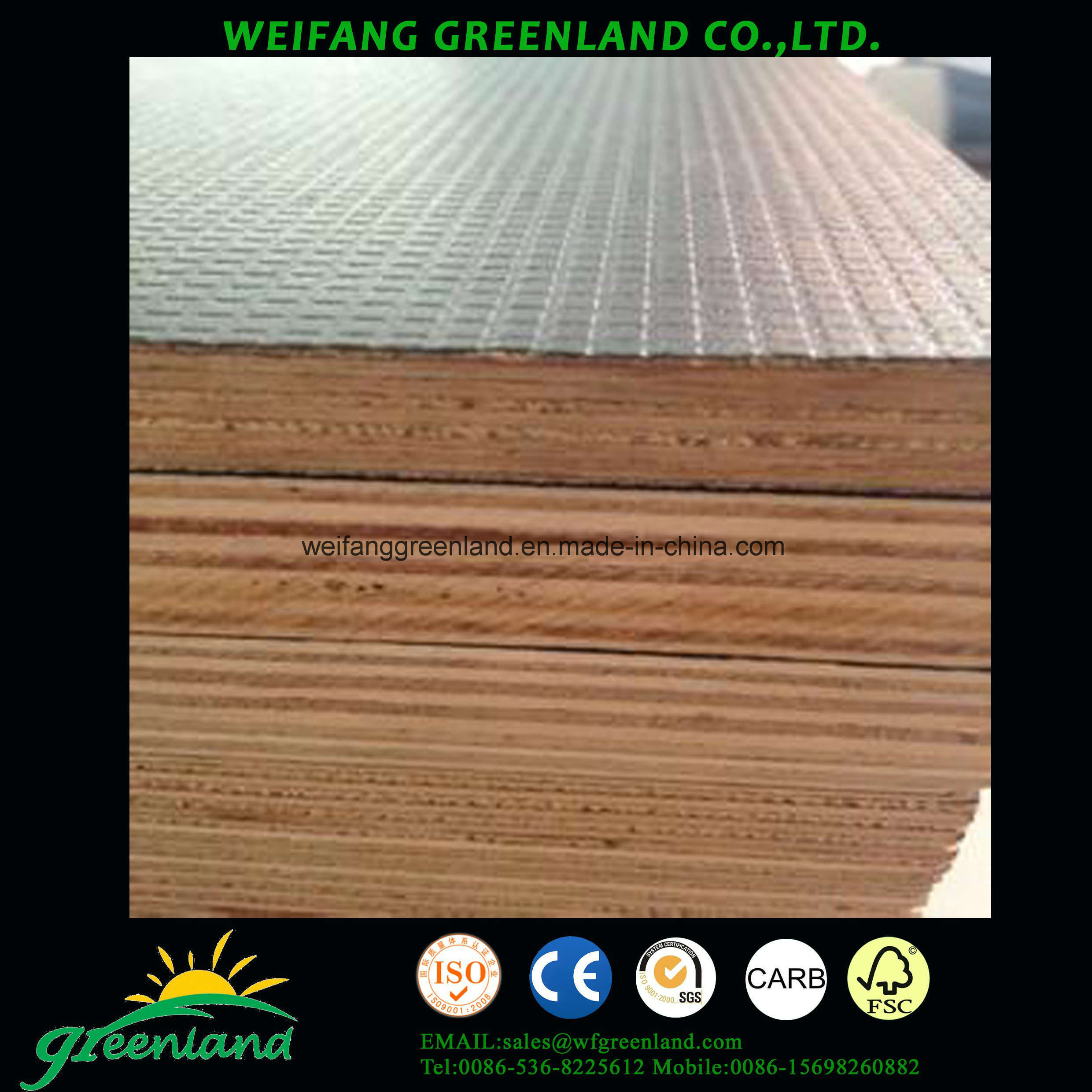 Two Times Quality Shuttering Plywood with Matt Finish Film