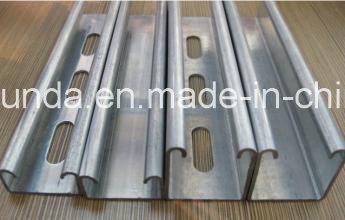 China Manufacturer Galvanized Steel C Shaped Slotted Unistrut Channel