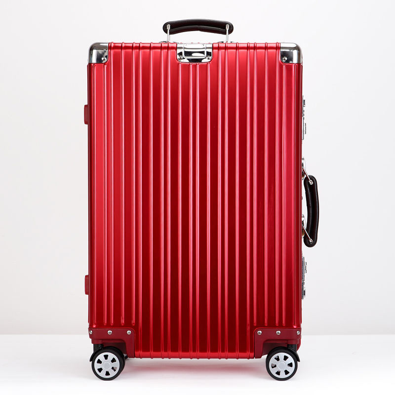 Aluminium Luggage with Red Color